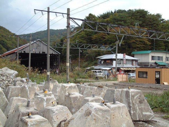 峠駅界隈 新幹線レール 峠駅界隈  板谷・峠